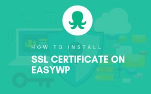 Install ssl cert on easywp